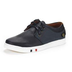 BRUNO MARC Mens Mesh Leather Sneakers Casual Shoes Slip On Lace Up Waking Shoes NY-03 NAVY 8.5