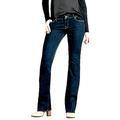 Wax Jeans Womens/Juniors Luscious Basic Bootcut/Straight Stretch Blue/Black Denim Jeans Pants