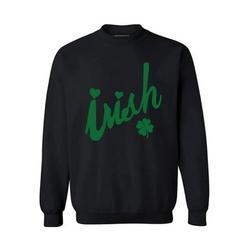 St. Patrick's Day St. Patricks Day - Irish clover lucky Irish Green Adult Crew Neck Sweatshirt