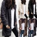 Fashion Womens Ladies Warm Fleece Tops Pocket Jacket Oversized Outdoor Coats Outwear