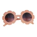 Frecoccialo Kids Sunflower Frame Round Sunglasses Summer Anti-UV Protection Eyewear
