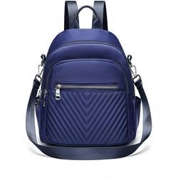 Backpack Womens Shoulder Bag 2 in 1 Nylon Waterproof Backpack Small School Backpack Daypack Anti-Theft Backpack for Casual School Travel Hiking Work