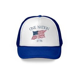 Awkward Styles USA Flag Hat American Trucker Hat One Nation 1776 Proud American Flag Hat USA Baseball Cap Patriotic Hat American Flag Men Women 4th of July Hat 4th of July Accessories