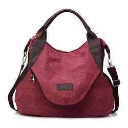 Fashion Women Handbag Large Pocket Casual Women Girls Single Shoulder Cross body Handbags Canvas Bags With Zipper