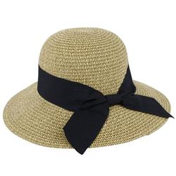 Women's Sun Hats UV Protection Large Wide Brim Hat Women Packable Sun Hat for Women Straw Hats With Bow Tie Womens Beach Hat Womens Sun Hat,Dark Brown