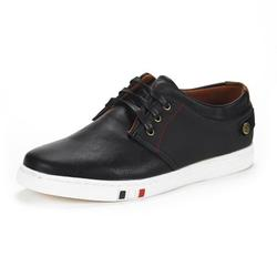BRUNO MARC Mens Mesh Leather Sneakers Casual Shoes Slip On Lace Up Waking Shoes NY-03 BLACK 10.5