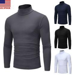 Winter Men Slim Warm Knit High Neck Pullover Jumper Sweater Top Turtleneck Solid
