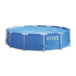 Piscine hors sol tubulaire Metal Frame ronde bleue avec épurateur - INTEX - 28212NP