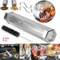 """12"""" BBQ Stainless Steel Outdoor Wood Pellet Grill Smoker Filter Tube Pipe Smoke"""