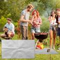 Rectangular Anti-burn pad Barbecue Mat Prevents Damage To The Floor Lawn