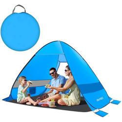 4 Person Family Pop Up Beach Tent - Ventilated Automatic Tent with Windows - Portable Tent with Carry Bag - Anti UV Tent for Camping & Hiking - Easy Set Up Camping Tent - Sun Protection