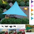 Voile d'ombrage triangulaire UV imperméable de 3M, pare-soleil de jardin, Patio, piscine, tente de