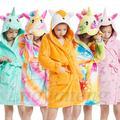 Garçons filles peignoir doux serviette de plage à capuche vêtements de nuit pour enfants licorne
