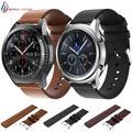 Bracelet de rechange en cuir véritable pour Samsung Gear S3 Frontier/Classic, pour Galaxy Watch 46mm