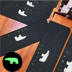 Balems Non-slip Stair Treads Luminous Bear Non-Slip Safety Carpet Indoor Carpet Stair Tread Treads Stair Rugs Mats Rubber Backing Household Suppies
