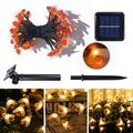Goory LED Solar Bee String Lights Outdoor Solar Power LEDs Strings Waterproof Decors Lamp Garden Christmas Holiday Decor Outdoor