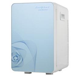 JIEOSYSQING INC 20L Car Refrigerator Mini Cold & Warm Refrigerator,Portable Small Mini Fridge in Blue, Size 16.54 H x 12.99 W x 10.63 D in   Wayfair