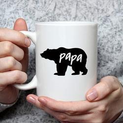 romeidata Papa Bear Coffee Mug Papa Bear Mug Fathers Day Mugs For Dad Husband Birthday Christmas Mugs For Dad From Daughter Son Birthday Mugs Coffee Mugs For Da