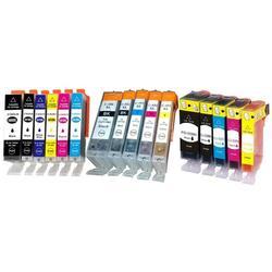 Cartouches compatibles Canon : Lot de 5 cartouches XL équivalent CANON PGI-570/CLI-571 XL