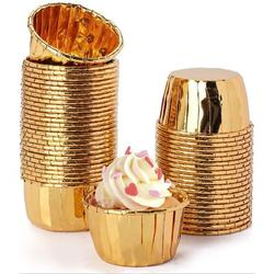ZWISSLIV Aluminum Foil Baking Cups, Disposable Foil Cupcake Cups, Foil Muffin Liners in Gray   Wayfair HA85C108MTMYNWL-01