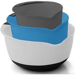 ZWISSLIV Mixing Bowls Set Of 3, Slip Resistant Bottom, 5, 3, 1.5 Quart Nested Bowl, Perfect For Dishwasher, Grip Handle, Pour Spout   Wayfair