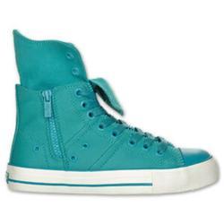 Levi's Shoes | Levi'S Zip Ex Ct Twill Hi Casual Shoe | Color: Blue/Green | Size: 6