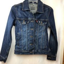 Levi's Jackets & Coats | Levi'S Womens Trucker Cropped Denim Jean Jacket Xs | Color: Blue | Size: Xs