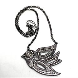 American Eagle Outfitters Jewelry   American Eagle Rhinestone Bird Pendent Necklace   Color: Gray/Silver   Size: Os