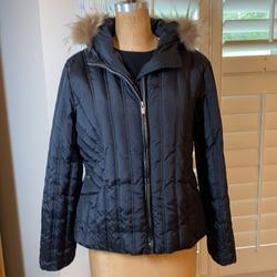 Michael Kors Jackets & Coats   Michael Kors Jacket With Fur Trimmed Hood Nwot   Color: Black   Size: Xl