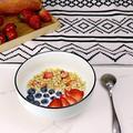 zhulinjubao Large Salad Bowls, Porcelain Soup Bowls Stackable Round Soup Serving Bowl Cereal Bowls For Soup, Salad, Oatmeal Salad Bowl Set Of 4