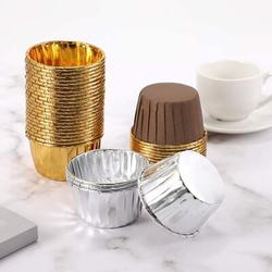zhulinjubao Aluminum Foil Baking Cups, Disposable Foil Cupcake Cups, Foil Muffin Liners in Gray | Wayfair NQP2L408MTMYNWL-01