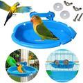 Bird Baths Tub Food Bowl for Cage, Parrot Birdbath Shower Accessories, Bird Cage Hanging Bath Bathing Box for Small Birds Parrots