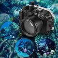 MEIKON Waterproof Camera Diving Housing Protective Case Cover Underwater 40m/ 130ft Replacement for Canon G7X Mark II