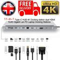 USB Type C Hub Adapter 11 In 1 HD MI VGA RJ45 PD For MacBook H P Lenovo Surface Compatible Thunderbolt 3 USB C Docking Station Specifications