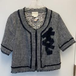 Kate Spade Jackets & Coats | Kate Spade Cropped Jacket - ***Fall Sale*** | Color: Black/White | Size: 12