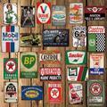[WellCraft] Huile Moteur Man cave Garage BP signes D'étain Vintage Bar Rétro Poster Mural Peinture