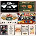 Central Perk Friends – Plaque décorative en métal Vintage, café, cuisine, salon, Bar