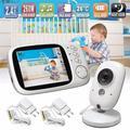 Moniteur vidéo sans fil pour bébé, caméra de sécurité pour nounou, écran LCD, Audio, température,