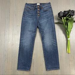 J. Crew Jeans   J.Crew Straightaway Jean Button-Fly Denim Jeans   Color: Blue   Size: 24