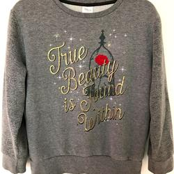 Disney Tops   Beauty And The Beast Disney Parks Sweatshirt Euc   Color: Gray/Red   Size: See Deets
