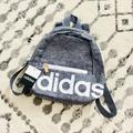 Adidas Bags | Last One! Adidas Linear Mini Backpack | Color: Gray/White | Size: Os