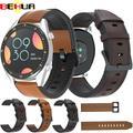 Bracelet en silicone et cuir 22mm pour Huawei Watch GT 2 2e, Bracelet de montre intelligente Amazfit