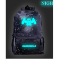 Starry sky grey luminous schoolbag leisure backpack