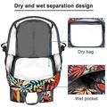 Lightweight Packable Waterproof Hiking Backpack with Wet Pocket, Up to 40L Capacity, Travel Hiking Daypack for Men and Women