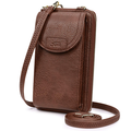 NHT&WT Women RFID Blocking Small Crossbody Cell Phone Purse Bag Faux Leather Wristlet Wallet