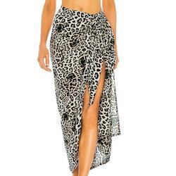 TANGNADE Women Dresses tru tops Women Printed Swimsuit Cover Up Mesh Bikini Swimwear Beach Cover-Ups Wrap Skirt