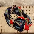 American Eagle Outfitters Accessories | Multi-Colored Infinity Scarf | Color: Black/Orange | Size: Os