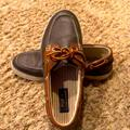 Polo By Ralph Lauren Shoes | Browntan Leather Polo Ralph Lauren Boat Shoes | Color: Brown/Tan | Size: 7.5