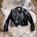 Nine West Jackets & Coats | Nine West Faux Patent Leather Jacket | Color: Black/White | Size: S