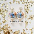 Disney Jewelry   Lilo And Stitch Drop Earrings   Color: Blue/Gold   Size: Os